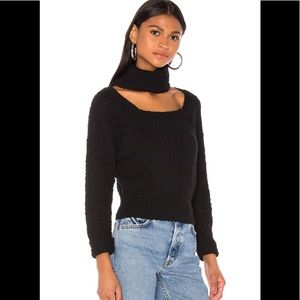 Like new choker sweater with square neck sz XS